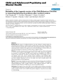 "Báo cáo y học: ""Reliability of the Luganda version of the Child Behaviour Checklist in measuring behavioural problems after cerebral malaria"""