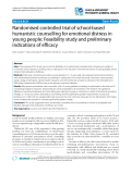 """Báo cáo y học: """"Randomised controlled trial of school-based humanistic counselling for emotional distress in young people: Feasibility study and preliminary indications of efficacy"""""""