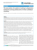 """Báo cáo y học: """"The association of academic tracking to depressive symptoms among adolescents in three Caribbean countries"""""""