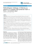 """Báo cáo y học: """" Methodological challenges in following up patients of a hospital child protection team: is there a recruitment bias"""""""