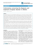 "Báo cáo y học: ""Controversies concerning the diagnosis and treatment of bipolar disorder in children"""