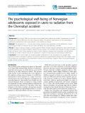 "Báo cáo y học: "" The psychological well-being of Norwegian adolescents exposed in utero to radiation from the Chernobyl accident"""