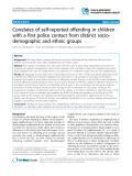 """Báo cáo y học: """"Correlates of self-reported offending in children with a first police contact from distinct sociodemographic and ethnic groups"""""""