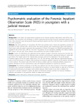 "Báo cáo y học: ""Psychometric evaluation of the Forensic Inpatient Observation Scale (FIOS) in youngsters with a judicial measure"""