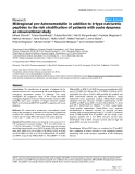 "Báo cáo y học: ""Midregional pro-Adrenomedullin in addition to b-type natriuretic peptides in the risk stratification of patients with acute dyspnea: an observational study"""