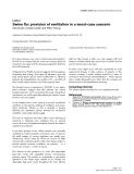 """Báo cáo y học: """"Swine flu: provision of ventilation in a worst-case scenario"""""""
