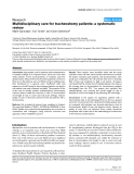"""Báo cáo y học: """"Multidisciplinary care for tracheostomy patients: a systematic review"""""""