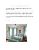 Màu sắc lãng mạn cho phòng ngủ của vợ chồng trẻ