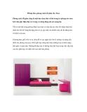 Phòng theo phong cách tối giản cho Teen