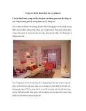 Trang trí căn hộ 40m2 dành cho vợ chồng trẻ