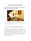 Bài trí tranh và tượng trong nhà