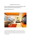 Không gian nhà sực ấm với sắc cam
