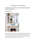 Những thiết kế bồn rửa nhà tắm tuyệt đẹp
