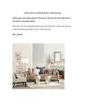 5 kiểu bàn trà cho phòng khách có diện tích hẹp