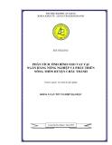 Luận văn; Phân tích tình hình cho vay tại Ngân hàng nông nghiệp và phát triển nông thôn huyện Châu Thành