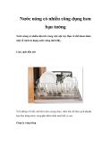 Nước nóng có nhiều công dụng hơn bạn tưởng