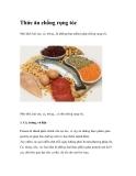 Thức ăn chống rụng tóc