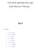 Giải thích ngữ pháp theo giáo trình Minnano NihongoBài 9