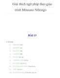 Giải thích ngữ pháp theo giáo trình Minnano NihongoBÀI 13I - Từ Vựng 1. 2. 3. 4. 5.