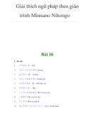 Giải thích ngữ pháp theo giáo trình Minnano NihongoBài 16I - Từ mới 1. 2. 3. 4. 5.