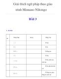 Giải thích ngữ pháp theo Minnano Nihongo - Bài 3