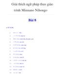 Tài liệu Giải thích ngữ pháp theo giáo trình Minnano Nihongo