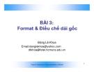 Slide - Format & Điều chế dải gốc
