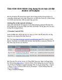 Giáo trình hình thành ứng dụng tícch hợp cài đặt Androi với Eclipse p1