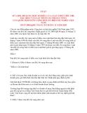 LUẬT SỬA ĐỔI, BỔ SUNG MỘT SỐ ĐIỀU CỦA LUẬT THUẾ TIÊU THỤ ĐẶC BIỆT VÀ LUẬT THUẾ GIÁ TRỊ GIA TĂNG