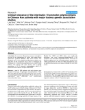 """Báo cáo y học: """" Clinical relevance of the interleukin 10 promoter polymorphisms in Chinese Han patients with major trauma: genetic association studies"""""""