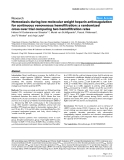"""Báo cáo y học: """"Hemostasis during low molecular weight heparin anticoagulation for continuous venovenous hemofiltration: a randomized cross-over trial comparing two hemofiltration rates"""""""