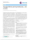 "Báo cáo y học: ""The triage dilemma: opening Pandora's box… ever so slowl"""