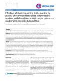 "Báo cáo y học: ""Effects of a fish oil containing lipid emulsion on plasma phospholipid fatty acids, inflammatory markers, and clinical outcomes in septic patients: a randomized, controlled clinical trial"""