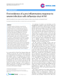"""Báo cáo y học: """"First evidence of a pro-inflammatory response to severe infection with influenza virus H1N1"""""""