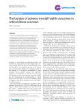 "Báo cáo y học: ""The burden of adverse mental health outcomes in critical illness survivors"""
