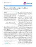 """Báo cáo y học: """"Disaster medicine: the caring contradiction"""""""