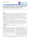 """Báo cáo y học: """"Insulin like growth factor-I in acute subarachnoid hemorrhage: a prospective cohort study"""""""
