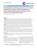 """Báo cáo y học: """" Early fiberoptic bronchoscopy during non-invasive ventilation in patients with decompensated chronic obstructive pulmonary disease due to community-acquired-pneumonia"""""""