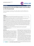 """Báo cáo y học: """" Endotoxemia-induced inflammation and the effect on the human brain"""""""