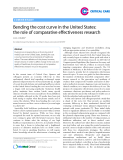 """Báo cáo y học: """"Bending the cost curve in the United States: the role of comparative effectiveness research"""""""
