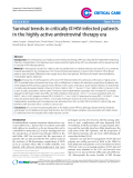 "Báo cáo y học: ""Survival trends in critically ill HIV-infected patients in the highly active antiretroviral therapy era"""