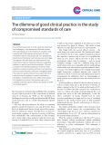 "Báo cáo y học: ""The dilemma of good clinical practice in the study of compromised standards of care"""
