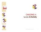 Chương 4 : Lược đồ Activity và vai trò của lược đồ