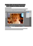Hướng dẫn chỉnh sửa ảnh tronh photoshop
