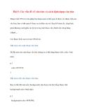 Bài 5: Các vấn đề về văn bản và cách định dạng văn bản