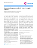 "Báo cáo y học: ""Understanding immune dysfunctions in sepsis patients"""