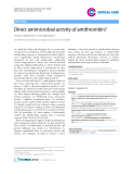 """Báo cáo y học: """" Direct antimicrobial activity of antithrombin"""""""