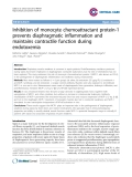 """Báo cáo y học: """"Inhibition of monocyte chemoattractant protein-1 prevents diaphragmatic inflammation and maintains contractile function during endotoxemi"""""""
