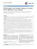"Báo cáo y học: ""Clinical aspects and cytokine response in severe H1N1 influenza A virus infection"""