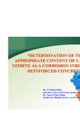DETERMINATION OF THE APPROPRIATE CONTENT OF CALCIUM NITRITE AS A CORROSION INHIBITOR IN REINFORCED CONCRETE